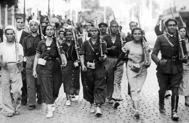 Resultado de imagen de milicianos españoles