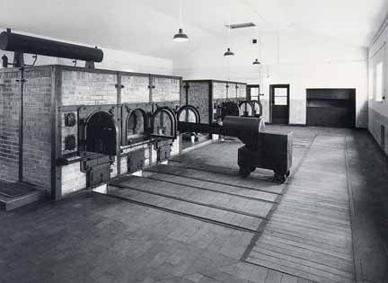 crematorio y ascensor que les llevaba desde la sala de ejecuciones