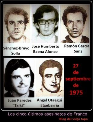 Los 5 úiltimos asesinatos de Franco