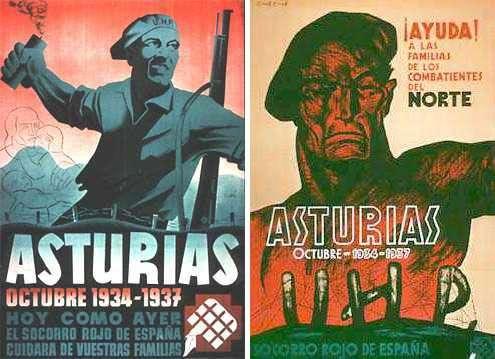 Carteles-sobre-la-Revolución-de-Asturias-de-1934