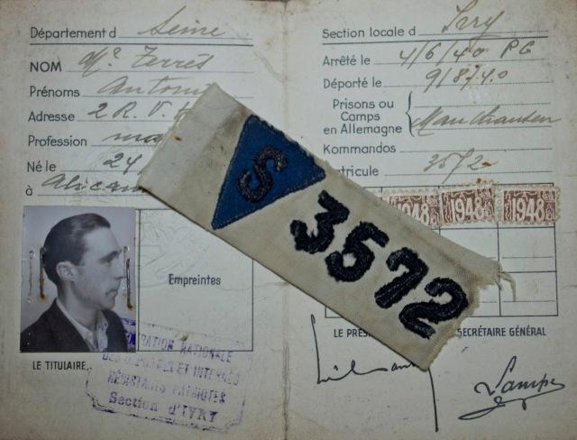 Carnet de la FNDRIP de Antonio Terres.